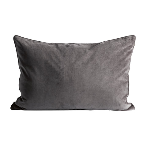 VELVET PILLOW COVER GREY 50X75