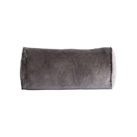 VELVET PILLOW COVER GREY 25X50