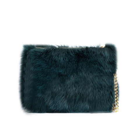 FOX FUR BAG MALLARD GREEN