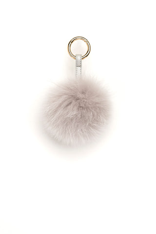 POM POM FOX GOLD LIGHT GREY