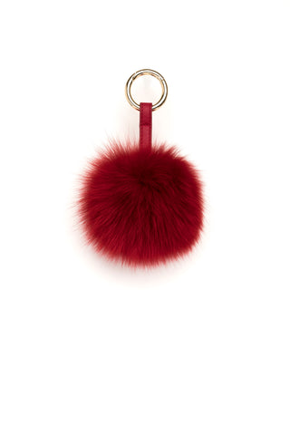 POM POM FOX GOLD RED