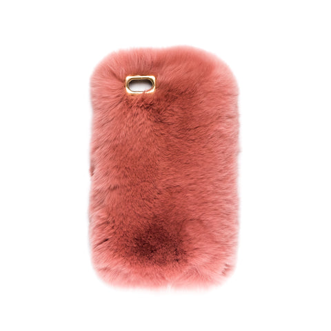 FUR IPHONE COVER ANTIQUE ROSE