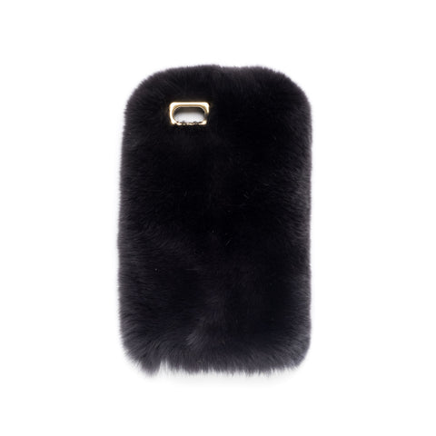 FUR IPHONE COVER CHARCOAL
