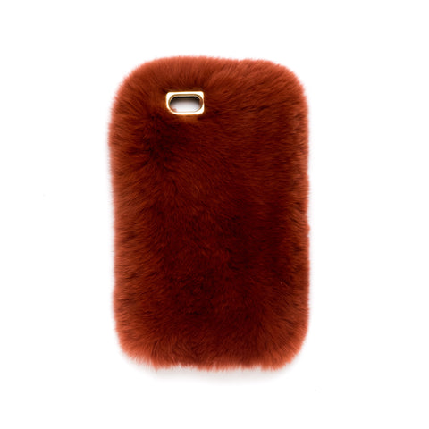 FUR IPHONE COVER COPPER