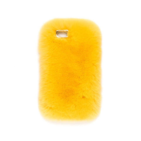 FUR IPHONE COVER YELLOW