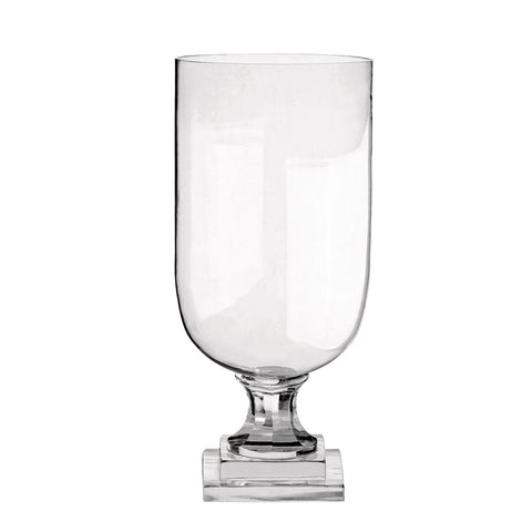 GLASS VASE ON SQUARE FOOT L