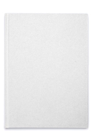 GLITTER NOTEBOOK WHITE L