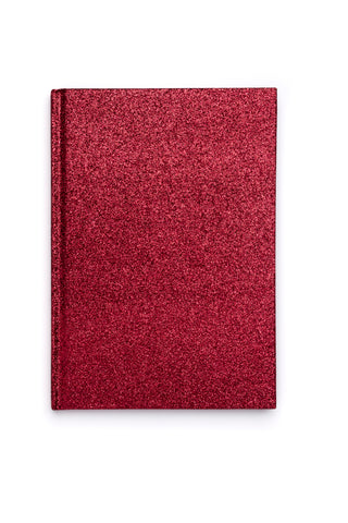 GLITTER NOTEBOOK RED M