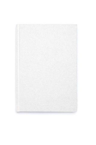 GLITTER NOTEBOOK WHITE M