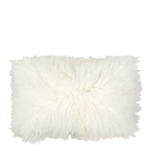 TIBETAN SHEEPSKIN PILLOW WHITE
