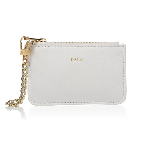 COIN POUCH WHITE GOLD