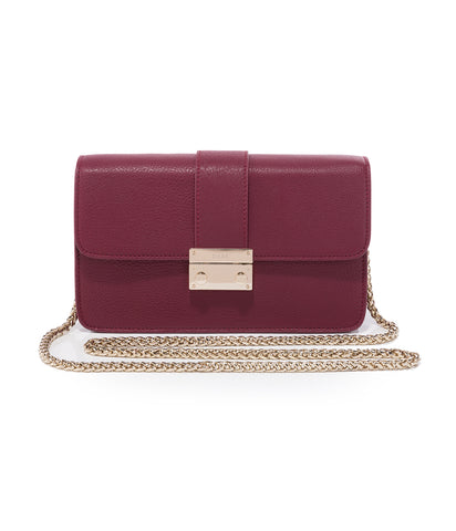 CHAIN SHOULDER BAG WINE GOLD