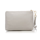 STANDING POUCH LIGHT GREY GOLD