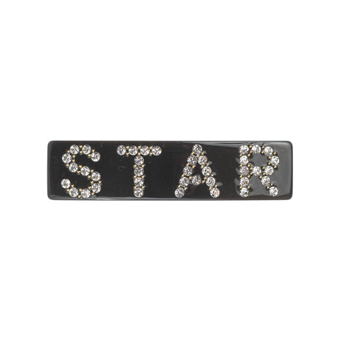 LARGE HAIR CLIP STAR CHARCOAL