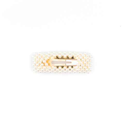 PEARL HAIR CLIP SQUARE SMALL