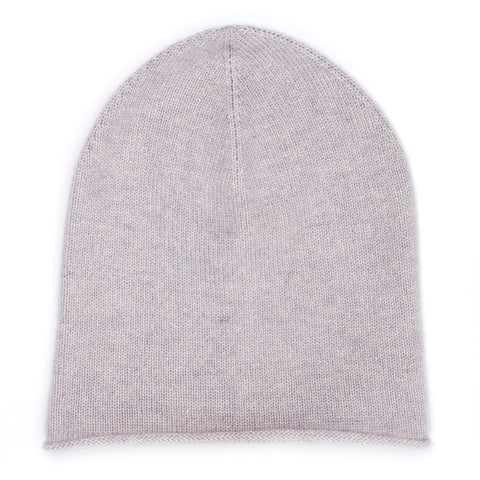 CASHMERE HAT SILVER GREY