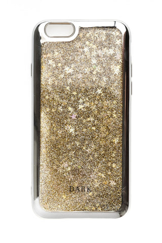 IPHONE COVER SILVER & GOLD MIX + STARS W/SILVER