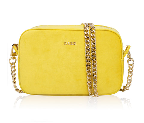 VELVET BOX BAG SUN YELLOW