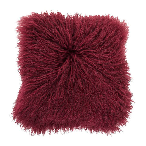 MONGOLIAN LAMBSKIN PILLOW WINE