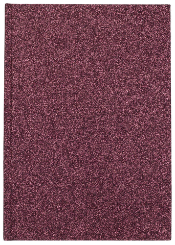 GLITTER NOTEBOOK WINE M