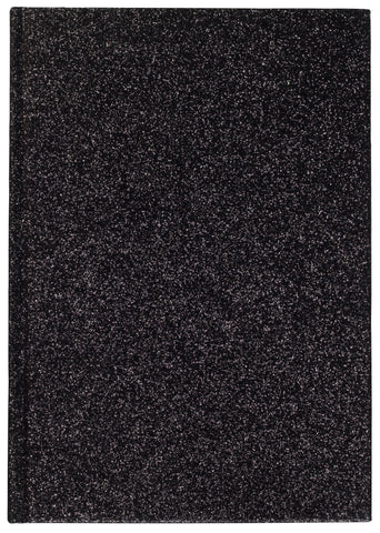 GLITTER NOTEBOOK BLACK M