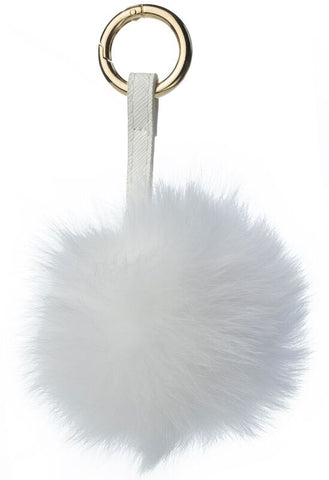 POM POM FOX GOLD WHITE