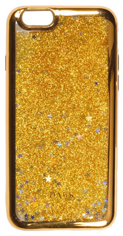 IPHONE COVER GOLD W/ LIQUID GLITTER