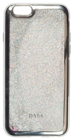 IPHONE COVER SILVER/SILVER W. LIQUID GLITTER