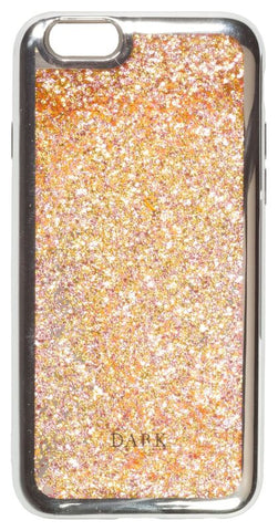 IPHONE COVER GOLDEN ROSE MIX W/SILVER EDGE