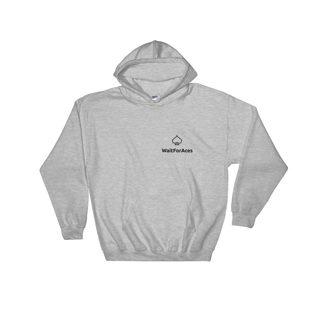 Hooded Sweatshirt Black Logo Wait for Aces