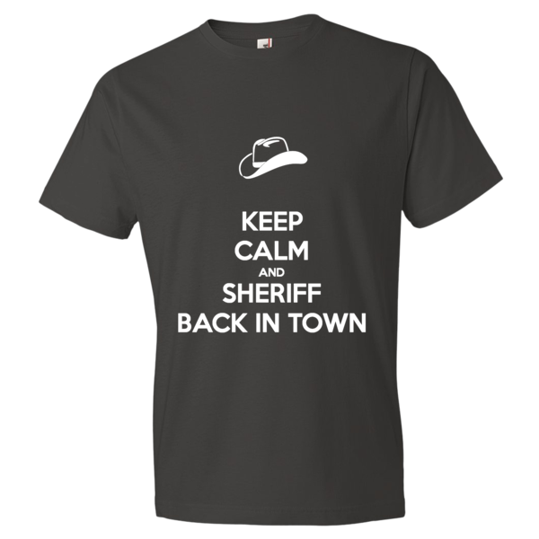 Short sleeve t-shirt Sheriff Back in Town