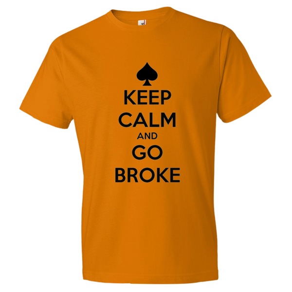 Short sleeve t-shirt Go Broke Black