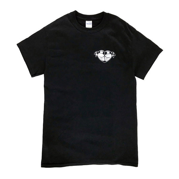 Tattoo style booty heart tee shirt.