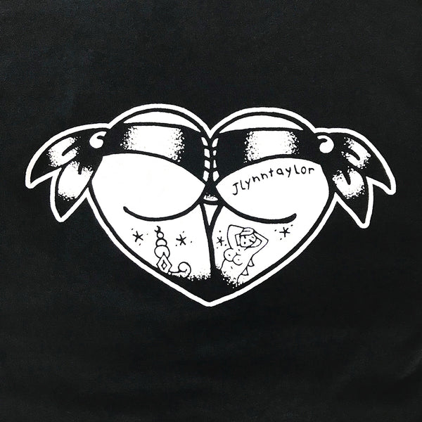 American Traditional Tattoo Flash Booty Heart T-Shirt.