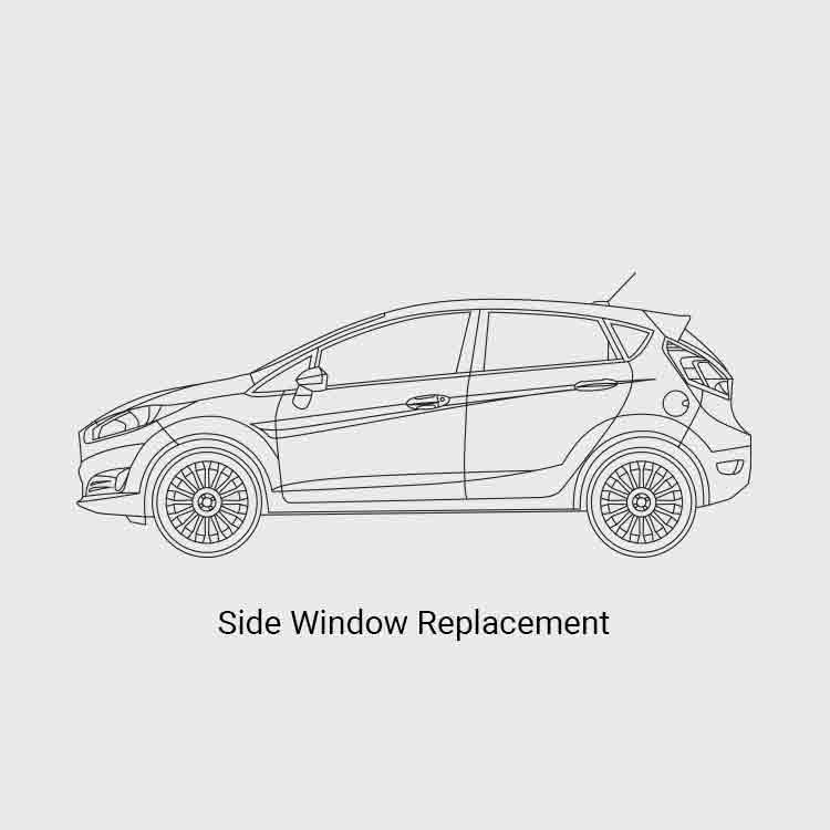 Side window replacement price list