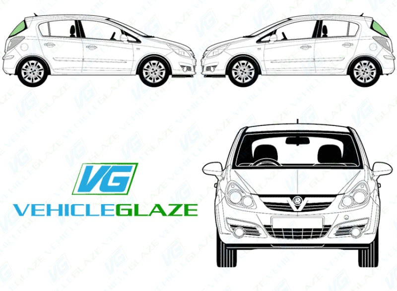Side Window Replacement & Repair Cost Vauxhall Corsa D (5