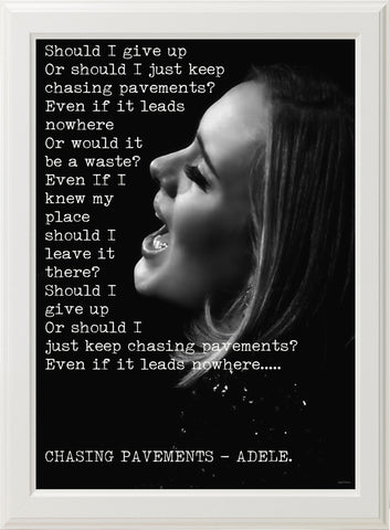 ADELE - CHASING PAVEMENTS! (white frame)