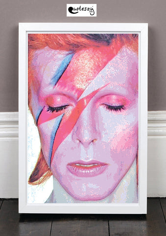 DAVID BOWIE ART PRINT! (white frame)