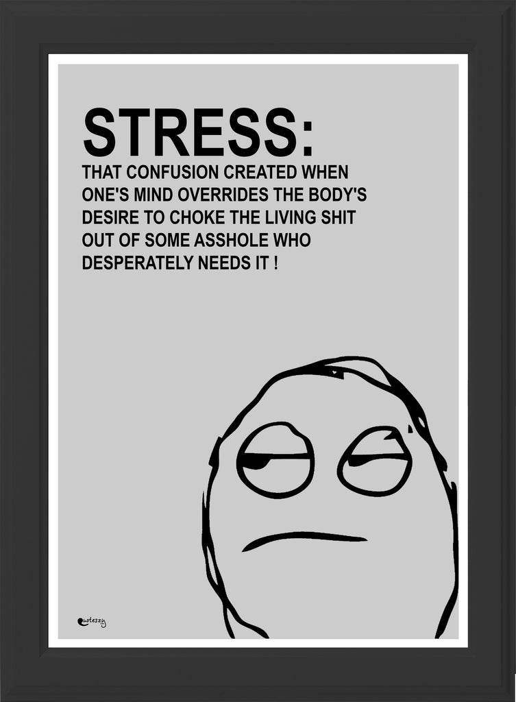 STRESS! (black frame)