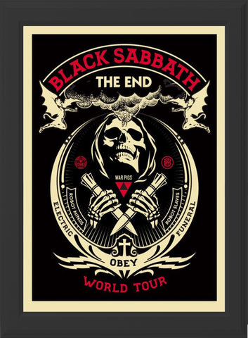 BLACK SABBATH - THE END! (black frame)