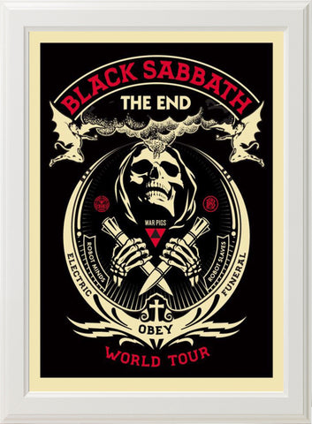 BLACK SABBATH - THE END! (white frame)