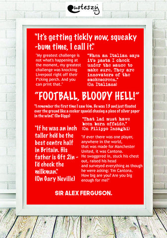 ALEX FERGUSON - QUOTES COLLECTION! (white frame)