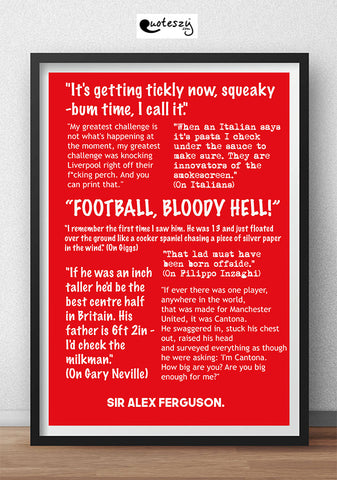 ALEX FERGUSON - QUOTES COLLECTION! (black frame)