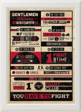 FIGHT CLUB RULES! (white frame)