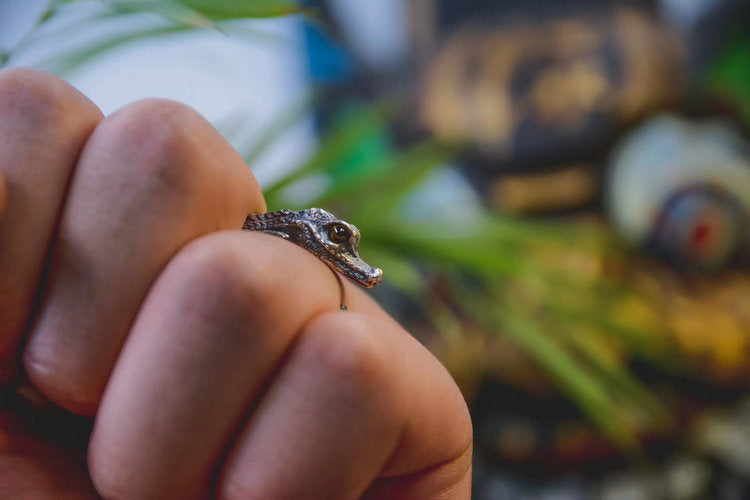 Baby Alligator Ring - Holy Buyble