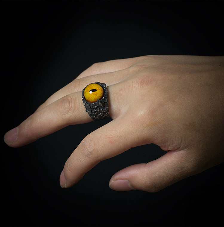 Bats of Evil Eye Ring - Holy Buyble