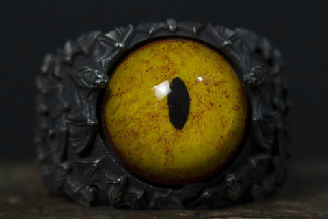 Mahākāla God of Fortune Yellow Box Wood Pendant