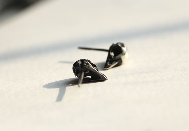 Bird Skull Earring - Holy Buyble