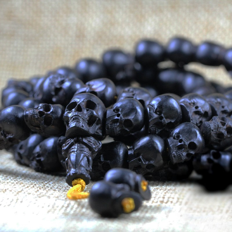 Black Ghost Skull Necklace - Holy Buyble