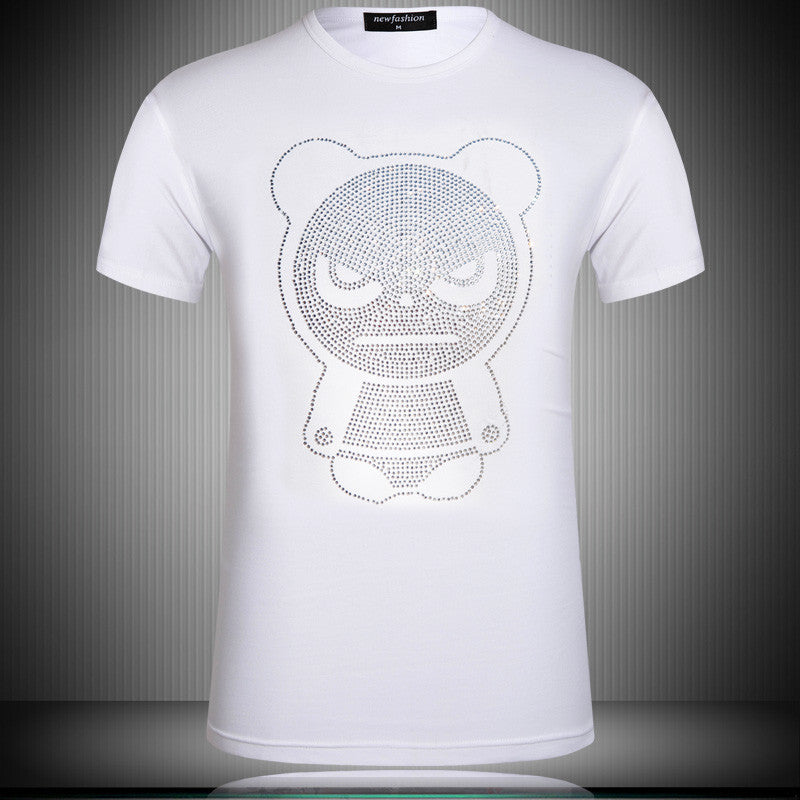 Bling Bling Crystal Glitter Angry Panda Unisex T-Shirt - Holy Buyble